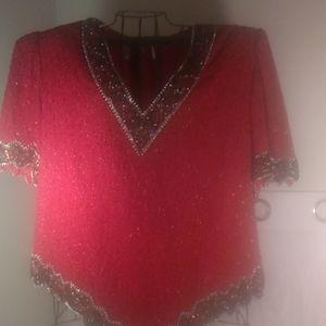 Laurence kazar New York beaded blouse